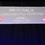 Szyld UTW w Iłowej