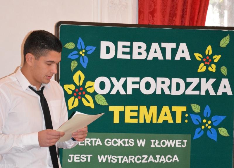 Debata oksfordzka w Zespole Szkół Ponadgimnazjalnych w Iłowej
